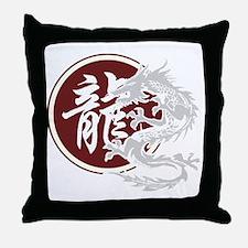 dragon51black Throw Pillow