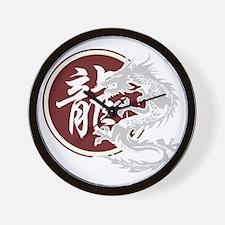 dragon51black Wall Clock