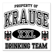 "Krause German Drinking T Square Car Magnet 3"" x 3"""