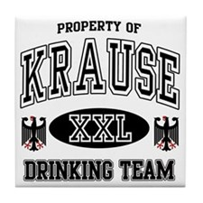 Krause German Drinking Team Tile Coaster