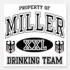 "Miller German Drinking T Square Car Magnet 3"" x 3"""