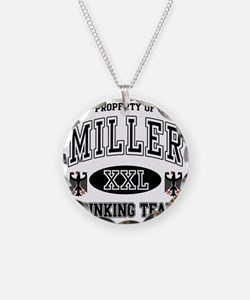 Miller German Drinking Team Necklace Circle Charm