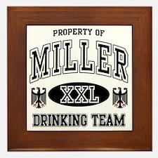 Miller German Drinking Team Framed Tile