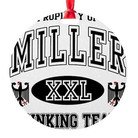 Miller German Drinking Team Round Ornament