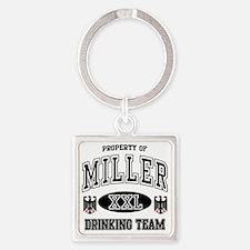 Miller German Drinking Team Square Keychain