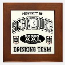 Schneider German Drinking Team Framed Tile