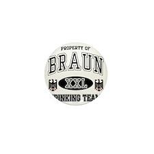 Braun German Drinking Team Mini Button