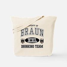 Braun German Drinking Team Tote Bag
