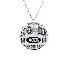 Schneider German Drinking Te Necklace Circle Charm