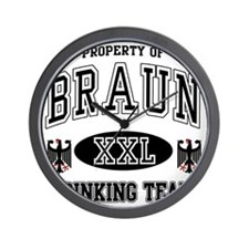 Braun German Drinking Team Wall Clock