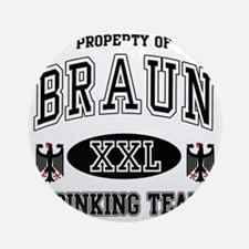 Braun German Drinking Team Round Ornament