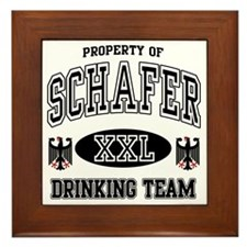 Schafer German Drinking Team Framed Tile
