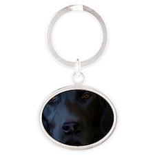 BlackLab6x4 Oval Keychain