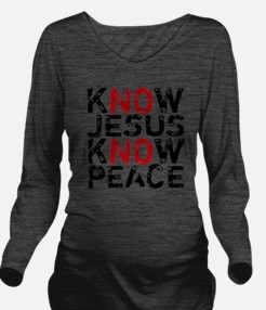 KnowJesus Long Sleeve Maternity T-Shirt