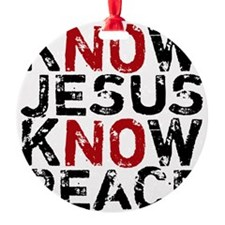 KnowJesus Round Ornament