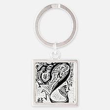 dragon50light Square Keychain