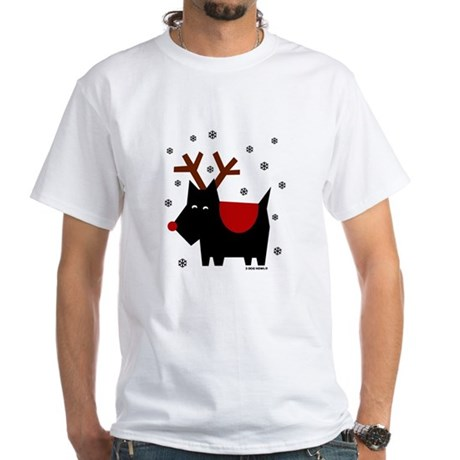 SCOTTIE REINDEER (White T-Shirt)