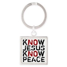 KnowJesus Square Keychain