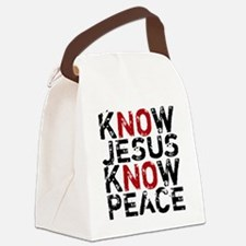 KnowJesus Canvas Lunch Bag