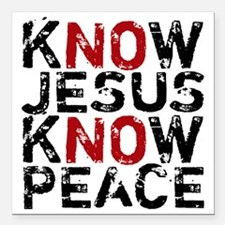 "KnowJesus Square Car Magnet 3"" x 3"""