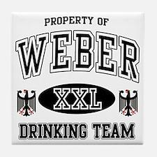 Weber German Drinking Team Tile Coaster