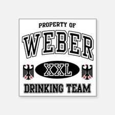 """Weber German Drinking Team Square Sticker 3"""" x 3"""""""