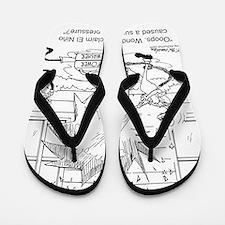 6414_power_washer_cartoon Flip Flops