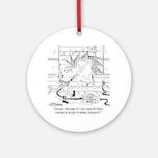 6414_power_washer_cartoon Round Ornament