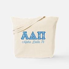Alpha Delta Pi Diamonds Tote Bag