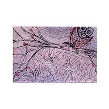 TreeOwl Rectangle Magnet