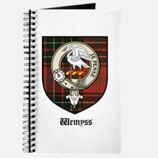 Wemyss Clan Crest Tartan Journal