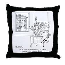 6408_tools_cartoon Throw Pillow