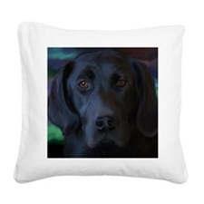 BlackLab16x16 Square Canvas Pillow