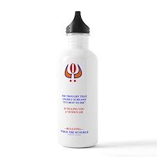 SPIRIT SCREAMS WHT. Water Bottle