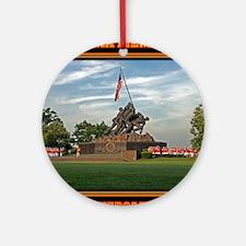 Iwo Jima Memorial Round Ornament