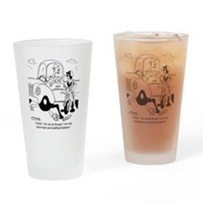 6349_inspection_cartoon Drinking Glass