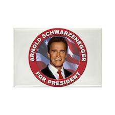 Arnold Schwarzenegger for President Rectangle Magn