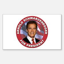 Arnold Schwarzenegger for President Decal