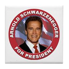 Arnold Schwarzenegger for President Tile Coaster
