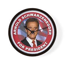 Arnold Schwarzenegger for President Wall Clock
