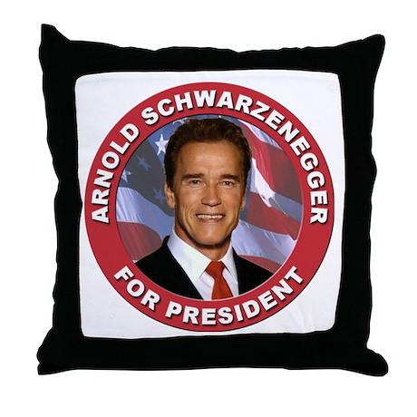 Arnold Schwarzenegger for President Throw Pillow