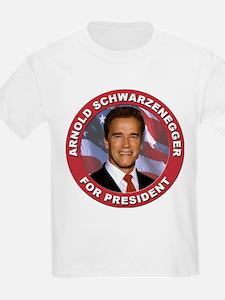 Arnold Schwarzenegger for President (Front) Kids T