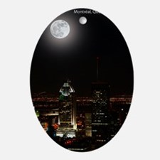 montreal_moon5 Oval Ornament