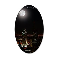 montreal_moon5 35x21 Oval Wall Decal