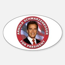 Arnold Schwarzenegger for President Oval Bumper Stickers