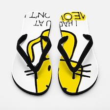 CuteCartoonCat Flip Flops