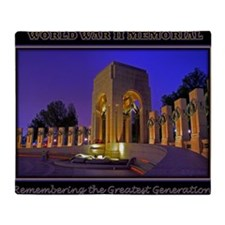 World War II Memorial Throw Blanket
