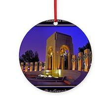 World War II Memorial Round Ornament
