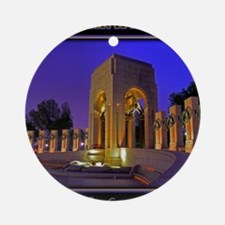 World War II Memorial Round Ornament