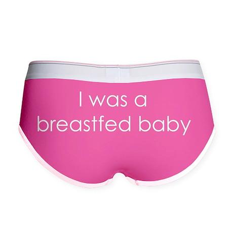 Breastfed Baby - white Women's Boy Brief